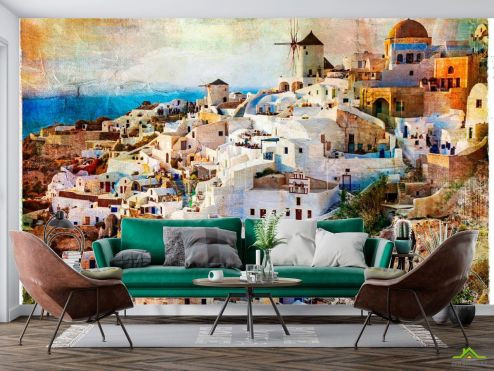 Винтажный Город Фотообои Греция