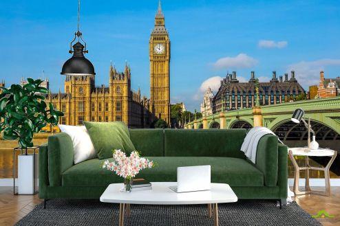 Лондон Фотообои яркий Лондон над Темзой