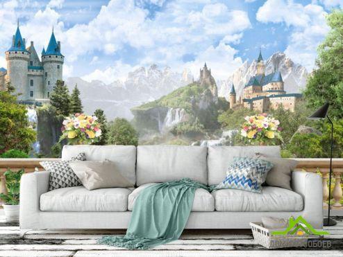 обои Фрески Фотообои Фреска с замком