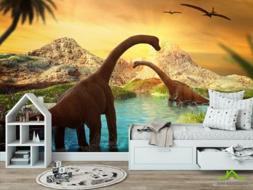 обои в детскую Фотообои динозавры