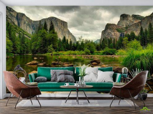 Природа Фотообои Хмурый день горы