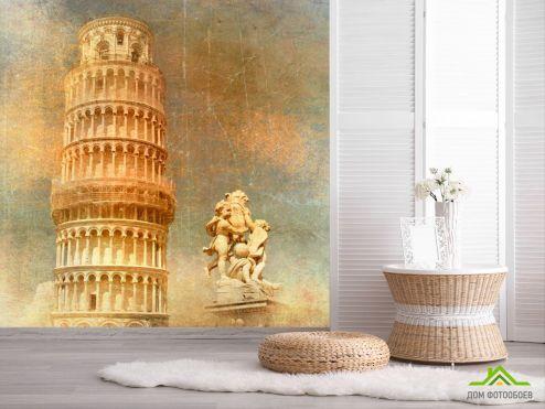 обои Винтаж Фотообои Пизанская башня, Италия