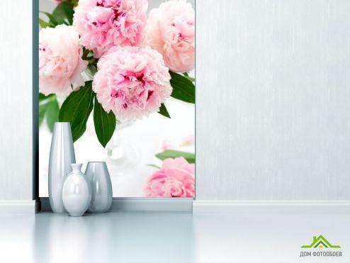 обои Цветы Фотообои Бледно-розовые пионы