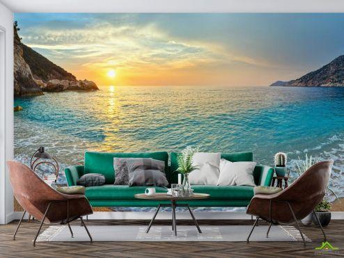 Фотообои Море по выгодной цене Фотообои Солнце над морем