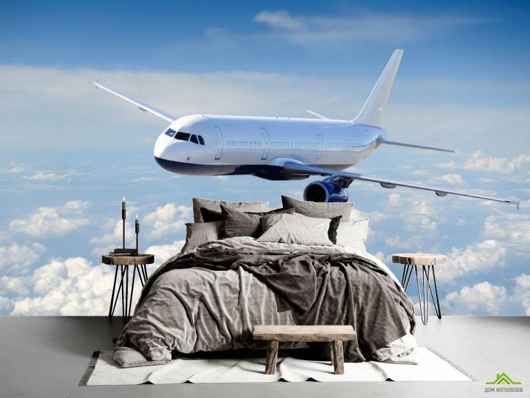 Фотообои самолёт в небе