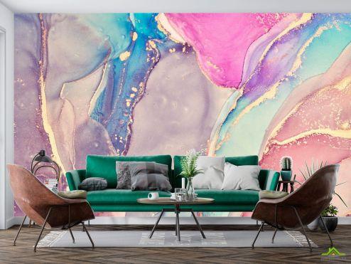 Fluid art Фотообои Яркий разноцветный флюид купить