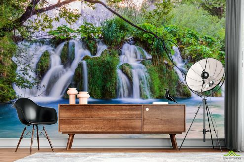 Природа Фотообои Пейзажный водопад купить