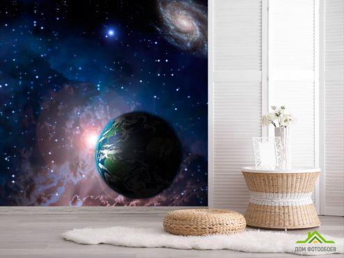 обои Космос Фотообои Земля и звезды