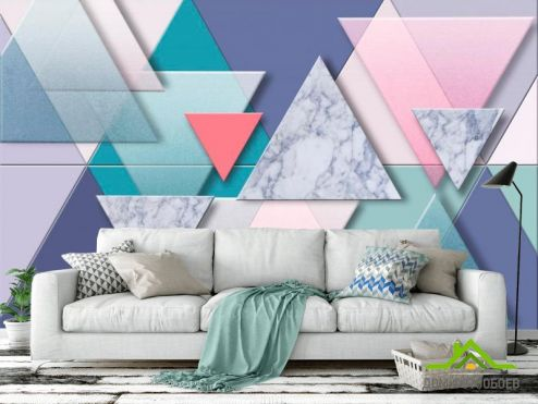 обои Геометрия Фотообои Треугольники