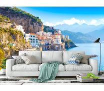 Фотообои белые дома над морем