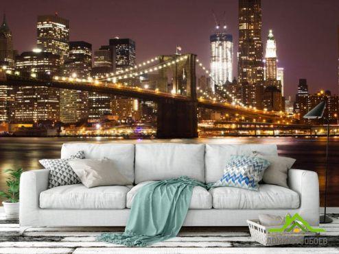 Фотообои Город по выгодной цене Фотообои Ночной Нью Йорк