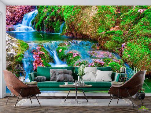 Водопад Фотообои Мох, вода купить