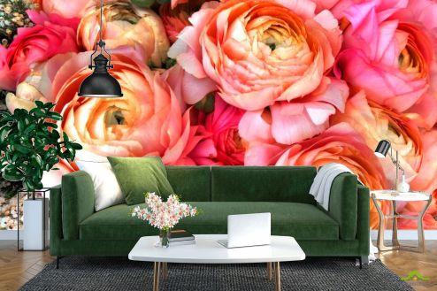 Пионы Фотообои Пионы насыщенно розовые