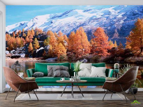 Фотообои Природа по выгодной цене Фотообои Снег,горы, осень