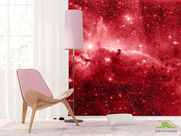 Фотообои красный космос