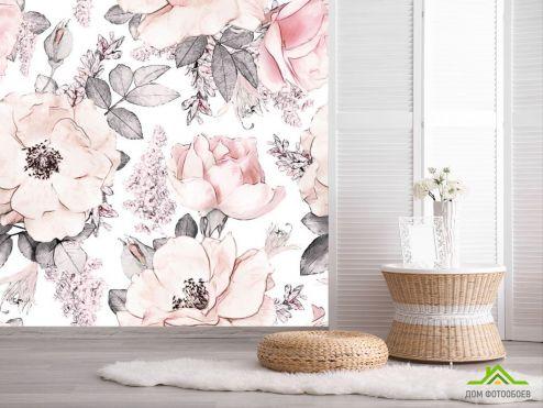 обои Цветы Фотообои Паттерн из цветов