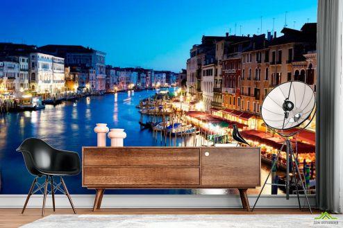 Фотообои Венеция по выгодной цене Фотообои Кафе у воды, Венеция