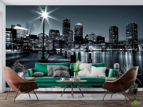 Нью Йорк Фотообои Набережная New Yorkа ночь