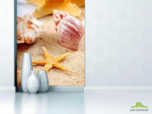 обои Ракушки Фотообои Песок и ракушки