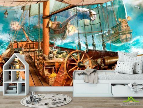 обои Пираты Фотообои Корабль
