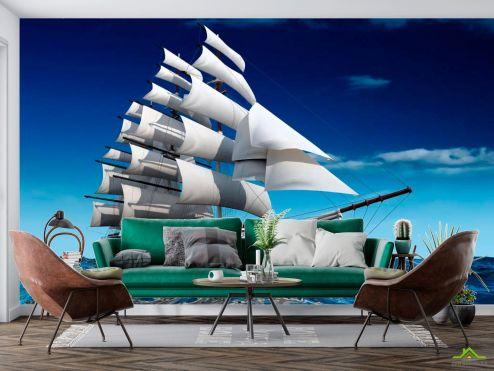 Корабли Фотообои Море и корабль
