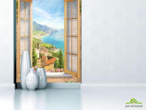 Коричневые  Фотообои Вид с окна