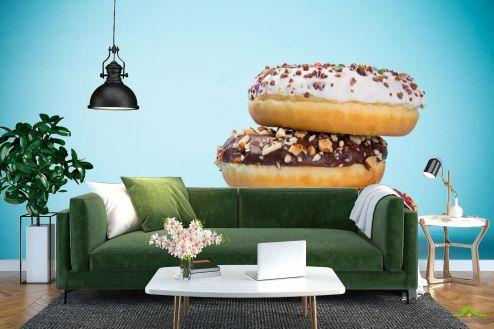Еда и напитки Фотообои пончики