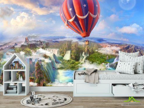 в детскую Фотообои Воздушный шар