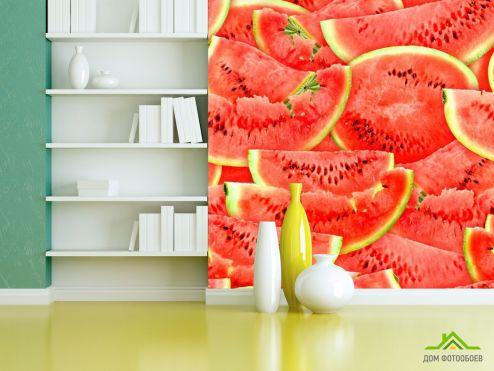 Фотошпалери, колір: «червоний» Нарізаний кавун