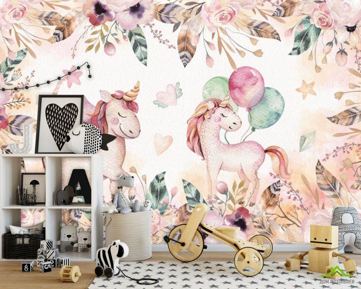 Фотообои Розовые пони