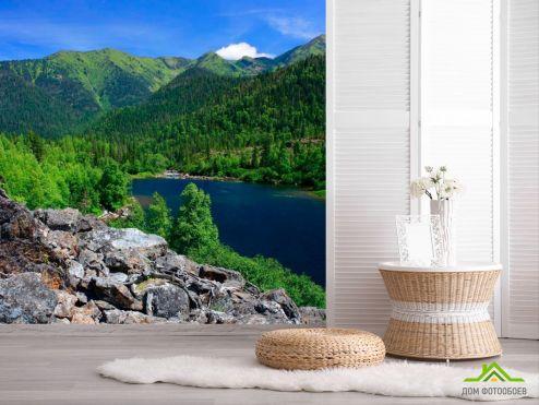 обои Природа Фотообои Дыхание гор, вода