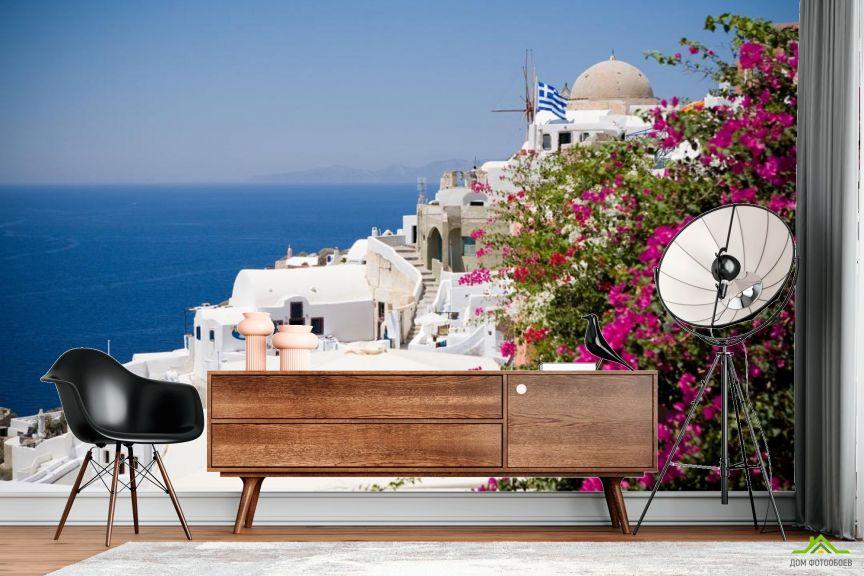 Фотообои белый дом над морем