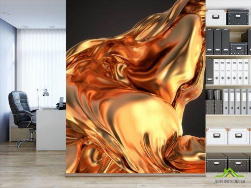 обои Абстракция Фотообои Золотая абстракция
