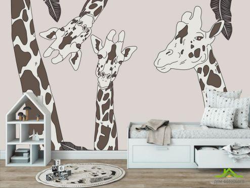 обои в детскую Фотообои детская жирафы