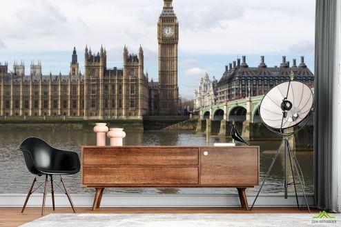 Лондон Фотообои Биг Бен над речкой