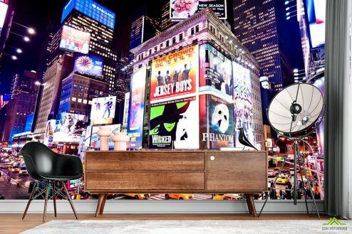 Современный город Фотообои Движение ночного города
