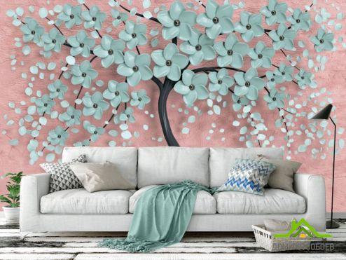 3Д  Фотообои Мятное дерево купить