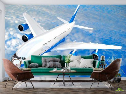 Самолеты Фотообои Самолет в облаках купить