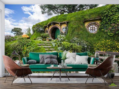 Природа Фотообои домик в холме