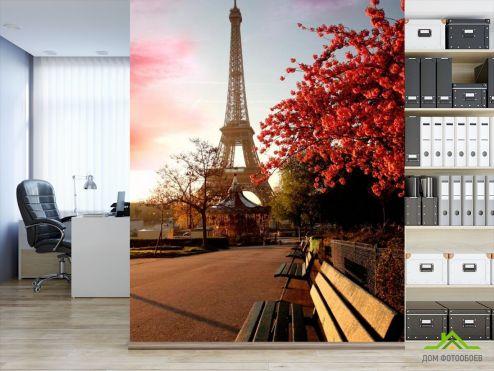 обои Париж Фотообои Эйфелева башня