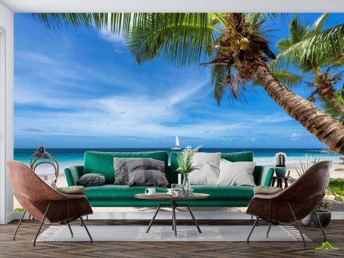 Фотообои Море по выгодной цене Фотообои Пальма над морем