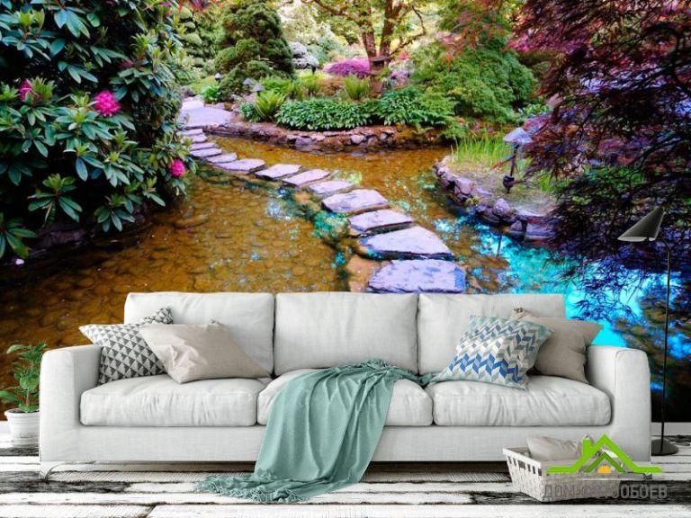 Фотообои Дизайн, камни, зелень