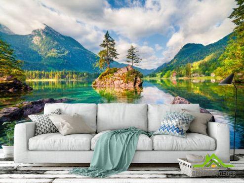 Природа Фотообои Озеро в горах купить
