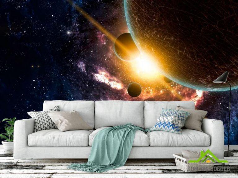 Фотообои Галактика и планеты
