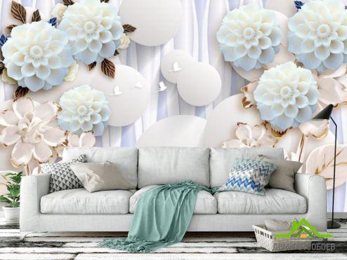 3Д обои Фотообои Фарфоровые цветы