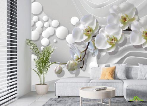 в гостиную Фотообои 3д орхидеи