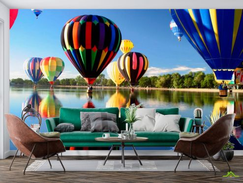 Спорт Фотообои Воздушные шары