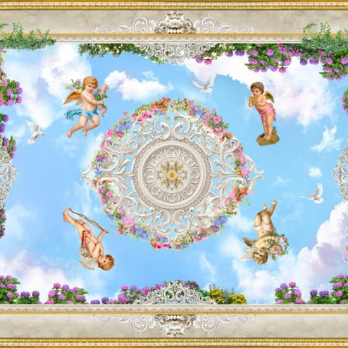 обои на потолок Фотообои Потолочные фотообои с ангелочками