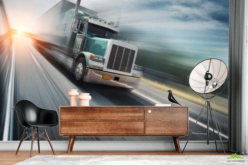 Фотообои Транспорт по выгодной цене Фотообои грузовик в движении