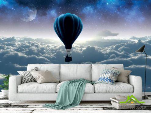 3Д  3д фотообои Воздушный шар купить